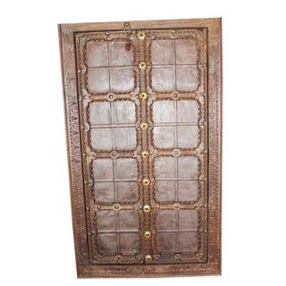 Antique Indian Mid Century Terrace Door Handcarved Jharokha Window For Sale