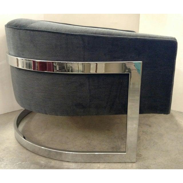 Vintage Milo Baughman Chairs - Pair - Image 5 of 7
