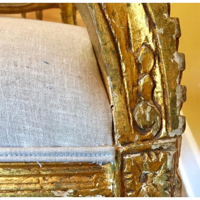 19th Century French Carved Gilt Arm Chairs - a Pair For Sale In Atlanta - Image 6 of 13