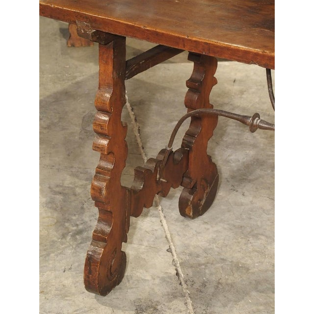 Metal Circa 1750 Italian Walnut Wood Writing Table For Sale - Image 7 of 13