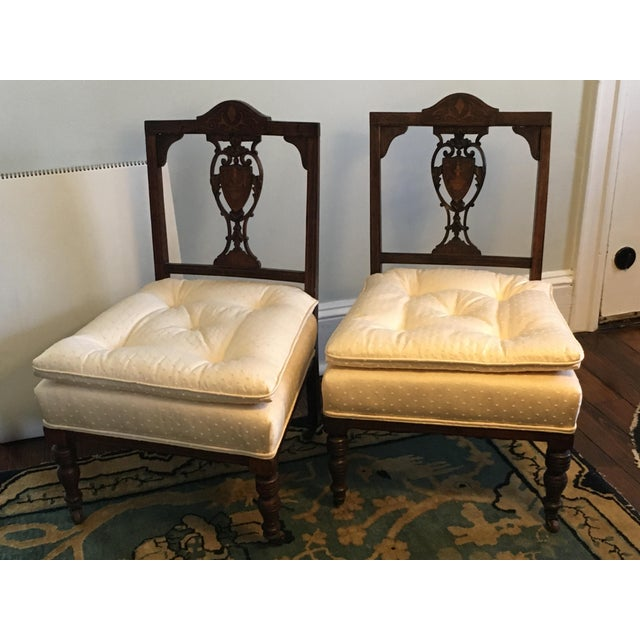 Antique Hepplewhite Shield Back Side Chairs - a Pair For Sale - Image 10 of 10