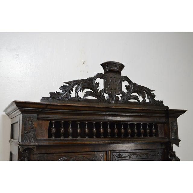 Antique Jacobean Flemish Carved Cabinet - Image 8 of 11