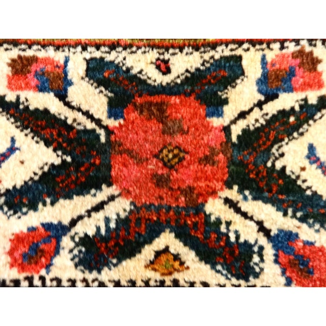 Superb 1920's Bakhtiari tribal bag hand-woven. Excellent wool and color. It has a combination of geometric and floral...