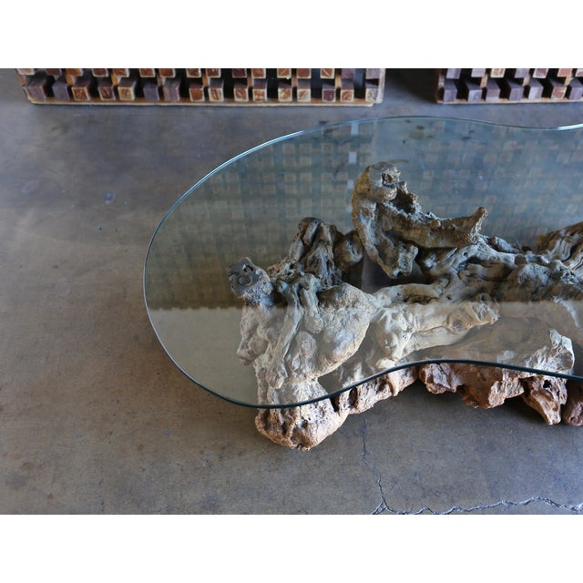 1960s Sculptural Driftwood Coffee Table For Sale - Image 4 of 9