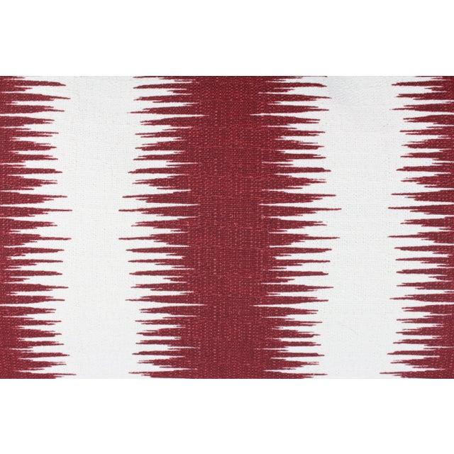 """Hollywood at Home Peter Dunham's Ikat """"Pasha"""" Linen Lumbar Pillow Pair For Sale - Image 4 of 5"""