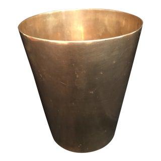 Vintage Solid Brass Planter Vase