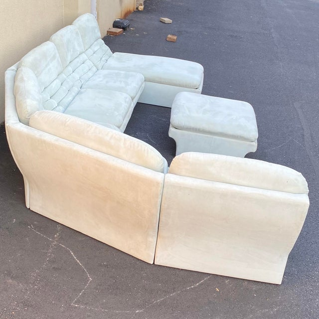 Mid-Century Modern Vladimir Kagan for Preview 7 Piece Modular Sectional For Sale - Image 3 of 13