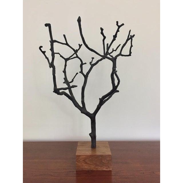 2010s Organic Contemporary Bronze Manzanita Jewelry Tree For Sale - Image 5 of 6