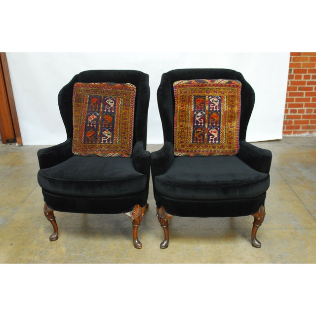 Oversized Turkish Rug Pillows - A Pair - Image 3 of 6
