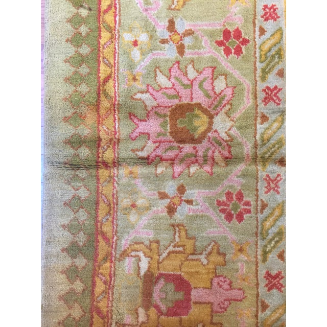 Antique Turkish Oushak Rug For Sale - Image 4 of 7