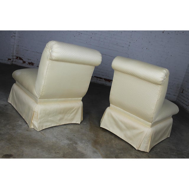 Donghia White Slipper Chairs - A Pair - Image 4 of 10