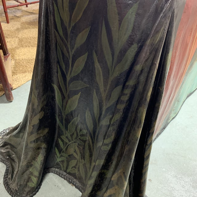 Dark Green Trompe l'Oeil Fiberglass Draped Cheetah Skilling Style Painting Console Table For Sale - Image 8 of 13