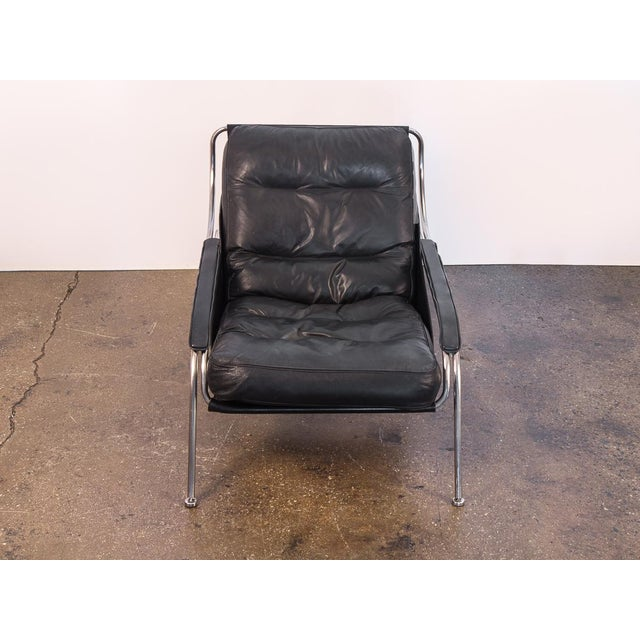 Marco Zanuso Maggiolina Lounge Chair and Ottoman by Marco Zanuso For Sale - Image 4 of 13