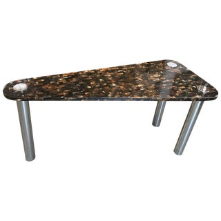 Tessellated Horn Console Sofa Table in the Manner of Garcel & Springer For Sale