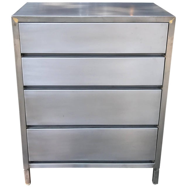 Machine Age Streamlined Brushed Steel Dresser by Superior Sleeprite For Sale - Image 10 of 10
