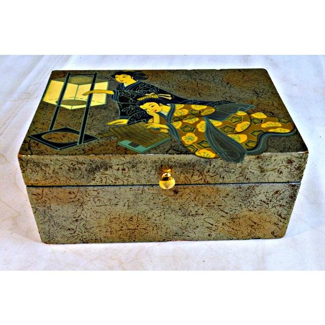Asian Asian Motive Trinket Box For Sale - Image 3 of 6