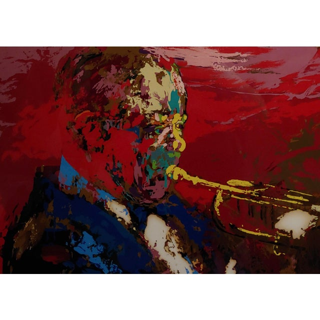 Abstract 1976 Portrait Silkscreen of Satchmo Louis Armstrong by Leroy Neiman For Sale - Image 3 of 10