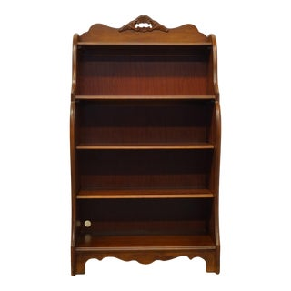 """French Country Stanley Furniture Cherry 32"""" Accent Bookcase For Sale"""