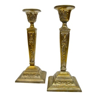 1960s French Provincial Candlesticks - a Pair For Sale