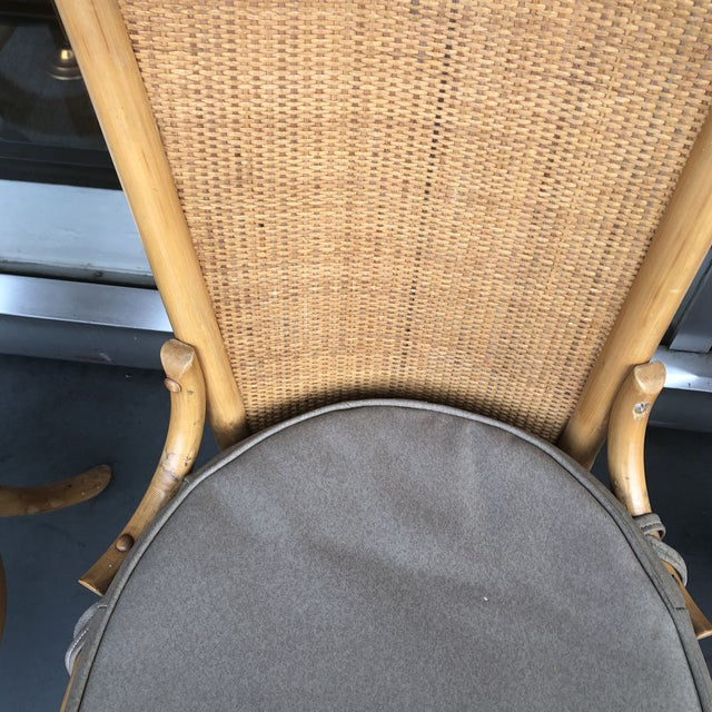 1970s 1970s Vintage Pagoda Style Rattan Dining Chairs- Set of 4 For Sale - Image 5 of 12