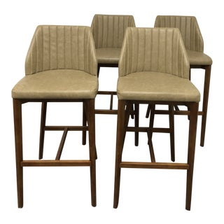 New Pacific Direct Tory Walnut Barstools - Set of 4