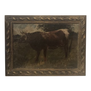 Signed Oil Painting by French Artist, Félix Dominique De Vuillefroy For Sale