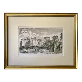 Antique Engraving Ancient Roman Bath Ruins by Georg Christoph Kilian C.1782 For Sale
