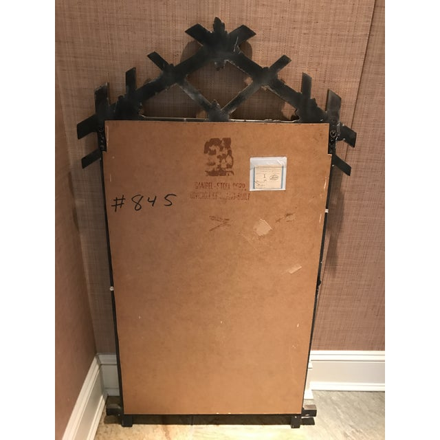 Gampel Stoll Silver Faux Bois Mirror For Sale In New York - Image 6 of 8