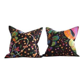 Josef Frank Teheran Floral Pillow Cushions - a Pair 18 X 18 For Sale