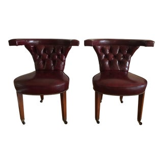 Grosfield House Oxblood Library Chairs - A Pair