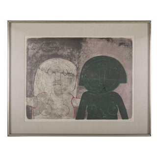 Dos Cabezas De Mujer Lithograph by Rufino Tamayo For Sale