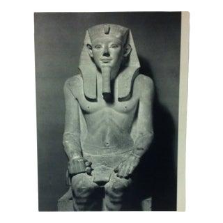 "Circa 1970 ""Pharaoh Senwosret I"" Great Sculpture of Ancient Egypt Print For Sale"