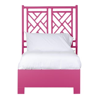 Chippendale Bed Twin Extra Long - Bright Pink For Sale