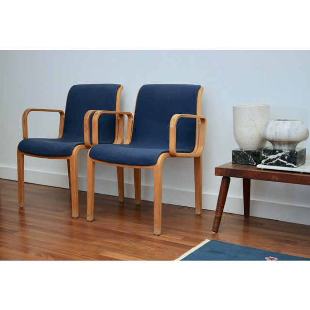 Bill Stephens for Knoll Arm Chairs, a Pair - Image 8 of 8