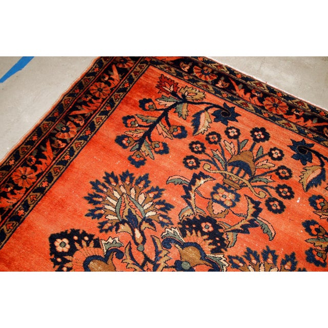 Textile 1920s, Handmade Antique Persian Lilihan Rug 5.3' X 7.2' For Sale - Image 7 of 10