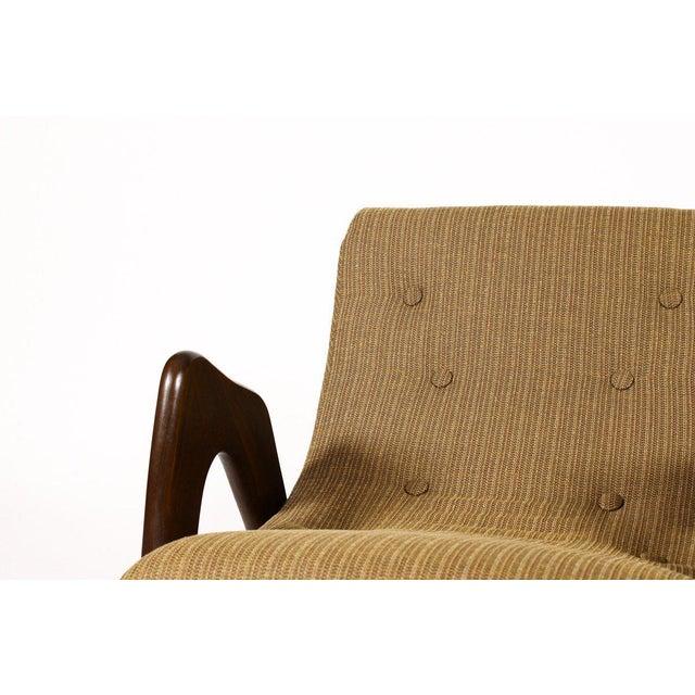 1960s 1960s Danish Modern Adrian Pearsall for Craft Associates Walnut Lounge Rocker For Sale - Image 5 of 6