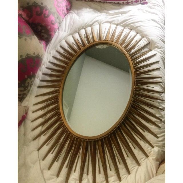 Glam Gold Metal Sunburst Mirror - Image 2 of 3