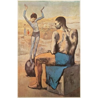 "1950s Vintage Original Parisian Photogravure ""La Jeune Fille Sur La Boule"" by Picasso For Sale"