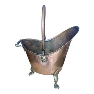 1800's Victorian Era Copper Wash Basin For Sale