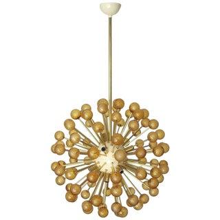 Amber Burst Murano Sputnik For Sale