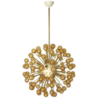 Two Amber Burst Sputnik Chandeliers by Fabio Ltd For Sale