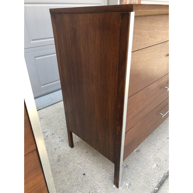Metal Mid-Century Modern Pair of Paul McCobb Chest For Sale - Image 7 of 13