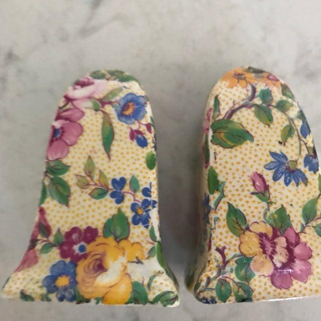 1940s Vintage Royal Winton Clevedon Chintz Floral Salt & Pepper Set For Sale - Image 11 of 13
