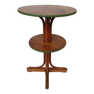 Thonet Bentwood Two-Tiered Table Circa 1900 - Original Paper Label For Sale
