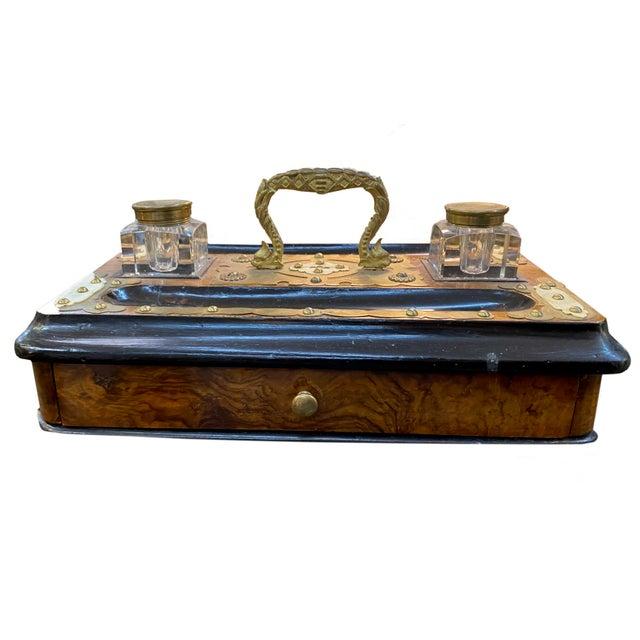 English Antique English Desk Set For Sale - Image 3 of 6