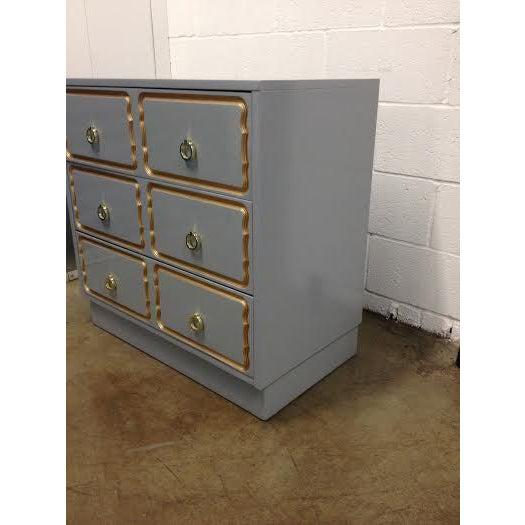 Mid-Century Modern Dorothy Draper Style Chest of Drawers For Sale - Image 3 of 6