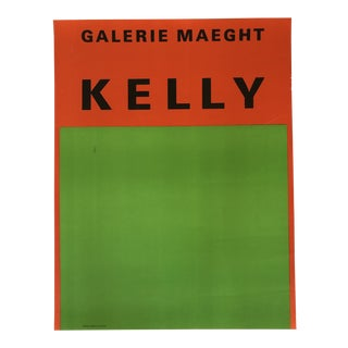 1960s Vintage Ellsworth Kelly Gallery Maeght Lithograph Poster For Sale