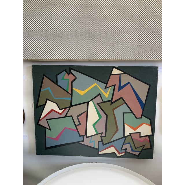 1960s 1960s Abstract Painting by Achi Sullo For Sale - Image 5 of 5