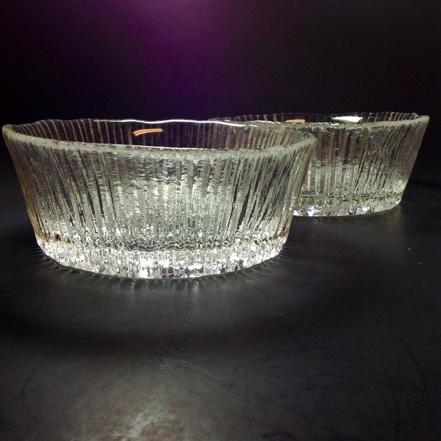 Danish Modern Ice Glass Bowls - A Pair - Image 5 of 5