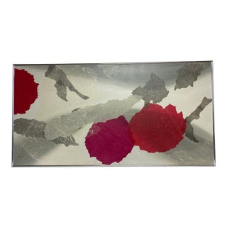 Mid-Century Abstract Painting on Canvas For Sale